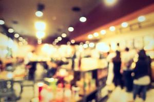 Abstrait intérieur de café défocalisé pour le fond photo