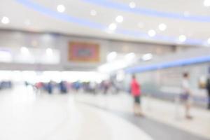 Résumé de l'intérieur de l'aéroport défocalisé pour le fond