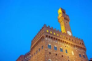 Palazzo Vecchio au centre-ville de Florence en Toscane Italie photo