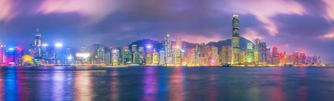 Toits de la ville de hong kong en Chine panorama photo