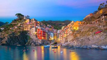 Riomaggiore, la première ville de la cique terre en ligurie, italie photo