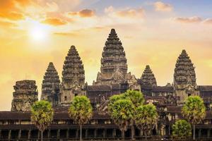 Lever du soleil à Ankor Wat, Siem Reap, Cambodge photo