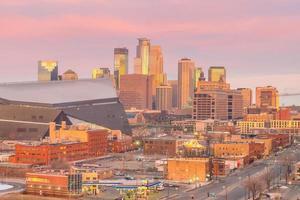 Skyline du centre-ville de Minneapolis dans le Minnesota, États-Unis
