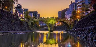 Pont de megane lunettes à nagasaki, kyushu japon photo