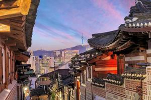 le quartier historique de bukchon hanok photo