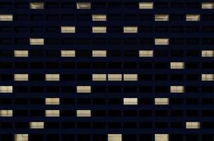 Façade du bâtiment 3D la nuit photo