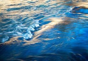 longue exposition à l'eau le soir photo