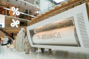 Bangkok, Thaïlande - machine à expresso dans un grand magasin photo
