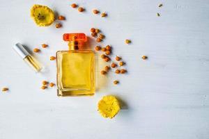 parfum à plat photo