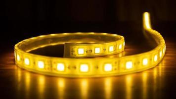 lumières LED dans le noir photo