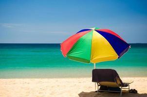 parasol coloré photo