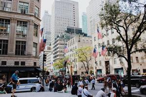 rue de la ville à new york, usa photo
