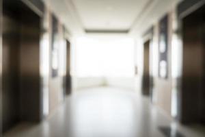 Intérieur de l'hôtel flou abstrait pour le fond photo
