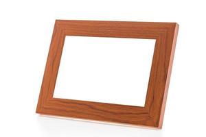 cadre en bois isolé photo