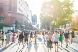 Brouiller les gens à Orchard Road à Singapour