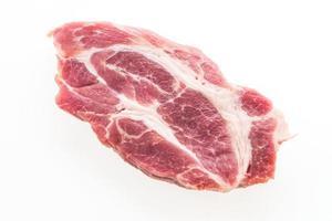 viande de porc crue isolée photo