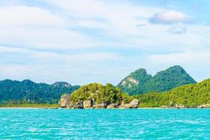 belle île tropicale, plage, mer et océan