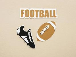 découpe de papier de sneaker de football américain photo