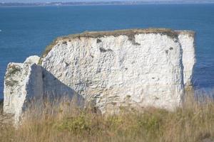 Old harry Rocks pointe de craie en Angleterre photo