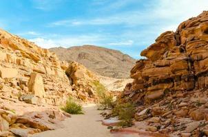 chemin à travers un canyon photo