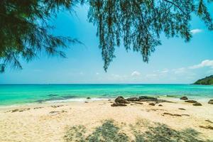 belle plage tropicale paradisiaque et mer
