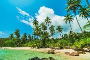 belle île paradisiaque avec paysage de mer et de plage photo