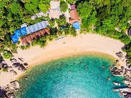 Vue aérienne de la mer à l'île de Koh Samui, Thaïlande