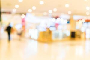 flou abstrait fond intérieur du centre commercial photo