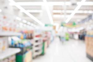 supermarché flou abstrait