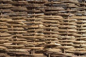 texture en osier du bois photo