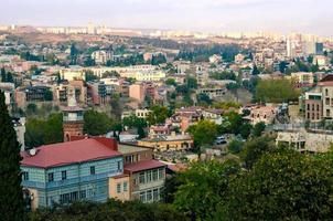 Vue aérienne d'une ville de Géorgie photo