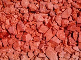 gros plan, de, pierre rouge, ou, mur roche, pour, arrière-plan, ou, texture photo