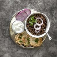 plat à plat délicieux nourriture de jour lohri photo