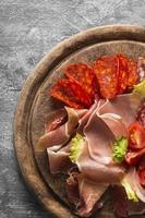 concept de viande fraîche à plat photo