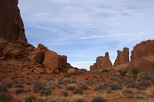 roches rouges dans le sud-ouest américain photo