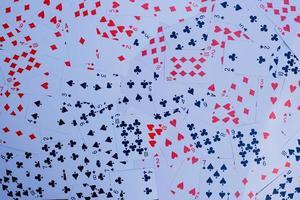 vue de dessus des cartes à jouer photo