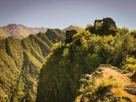 Paysage dans la région de Tusheti en Géorgie photo