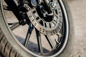 gros plan, de, a, roue moto photo