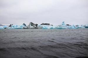 lagune glaciaire en Islande photo