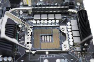 socket technologie lga 1366 pour cpu sur une carte mère ordinateur avec chipset photo