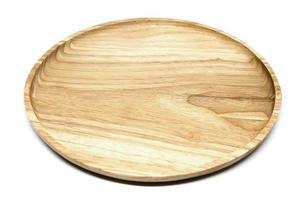 plaque de bois sur fond blanc photo