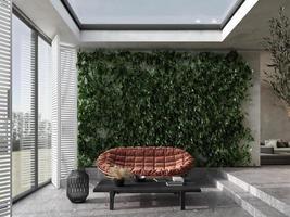 véranda moderne avec terrasse photo