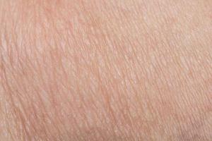 gros plan de la peau humaine photo