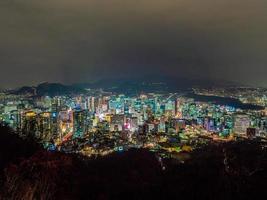 Séoul ville de nuit, Corée du Sud photo