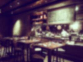 Intérieur du restaurant flou abstrait photo