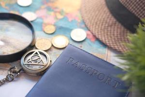 concept de vacances de voyage avec passeport