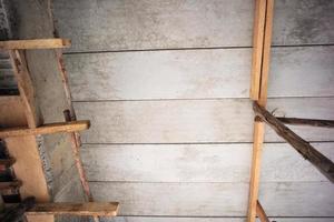 perspective de la structure à l'intérieur de la maison en construction photo