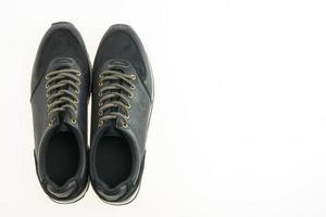 belles chaussures en cuir noir photo