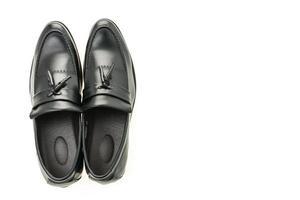 belles chaussures pour hommes en cuir de luxe et décontractées photo