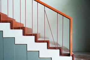 texture abstraite et fond des marches et des escaliers en béton photo